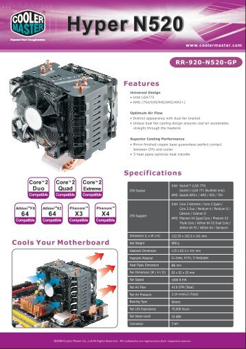 Hyper N520 Product Sheet 2008...pdf - Cooler Master