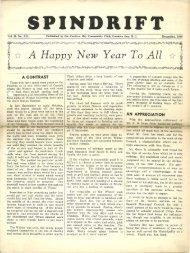 spindrift dec 1949 - Cordova Bay Association for Community Affairs