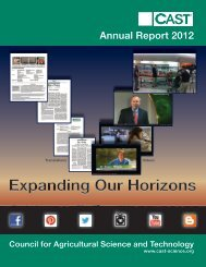 Annual Report 2012 - Council for Agricultural Science and Technology