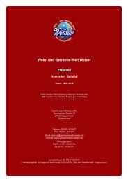 Preisliste für Hersteller: Balblair - und Getränke-Welt Weiser