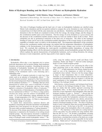 the role of h bonding in living This page explains the origin of hydrogen bonding - a relatively strong form of intermolecular attraction if you are also interested in the weaker intermolecular forces (van der waals dispersion forces and dipole-dipole interactions), there is a link at the bottom of the page the evidence for .