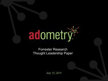 Forrester Research Thought Leadership Paper - Adometry