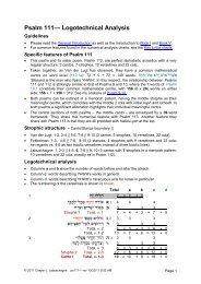 Psalm 111— Logotechnical Analysis - labuschagne