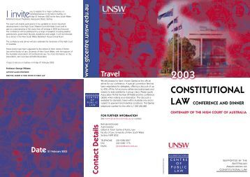27268 Gilbert & Tobin.indd - Gilbert + Tobin Centre of Public Law