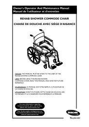 REHAB SHOWER COMMODE CHAIR CHAISE DE DOUCHE AVEC ...