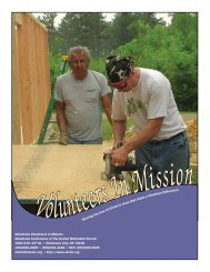 Volunteers In Mission Booklet - Okumcministries.org