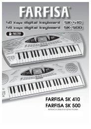 FARFISA SK 410 FARFISA SK 500 - FX-Music Group