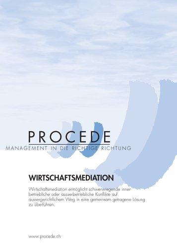 WIRTSCHAFTSMEDIATION - PROCEDE