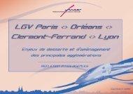 LGV Paris - Orléans - Clermont-Ferrand - Lyon - Apur