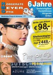 A n g e b o te Brille in l.Gläser k - €98 - Wolfgang Meyer