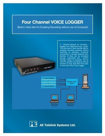 Four Channel Voice Logger leaflet 07-08-08 - Aetelelink.com
