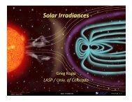 Solar Irradiances