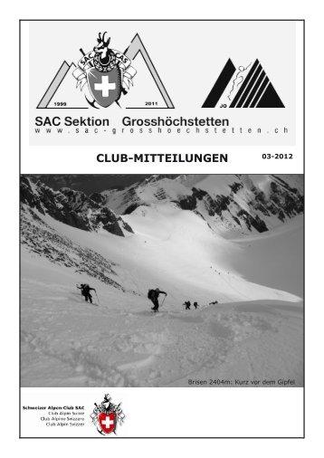Clubnachrichten 1. Ausgabe 2012 - SAC Sektion Grosshöchstetten