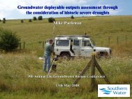 Groundwater deployable output assessment through the ...