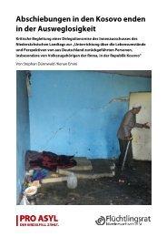 Abschiebungen in den Kosovo enden in der ... - Pro Asyl