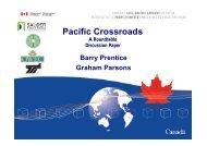 Pacific Crossroads - Canada's Asia-Pacific Gateway & Corridor ...