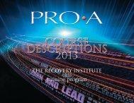 PRO-A Course Descriptions - PRO-A.org - Pennsylvania Recovery ...