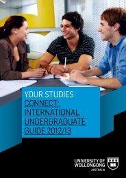 your studies connect: international undergraduate guide 2012/13