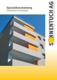 Outdoorvorhang Prospekt - Sonnentuch AG