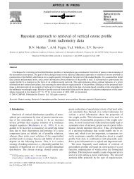 Bayesian approach to retrieval of vertical ozone profile from ...