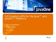 3-D Graphics APIs for the Java™ and JavaFX™ Platforms
