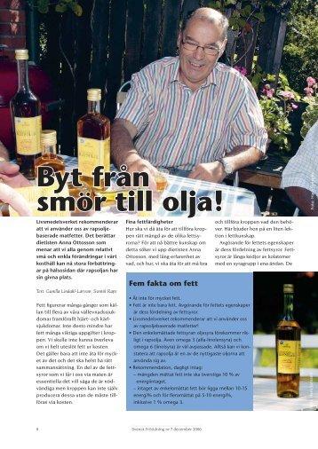 Byt från smör till olja! - Svensk Raps