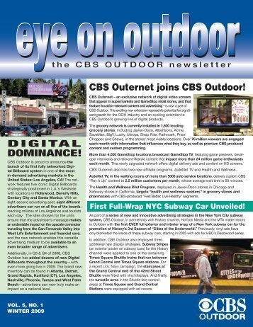 Winter 2009 - CBS Outdoor