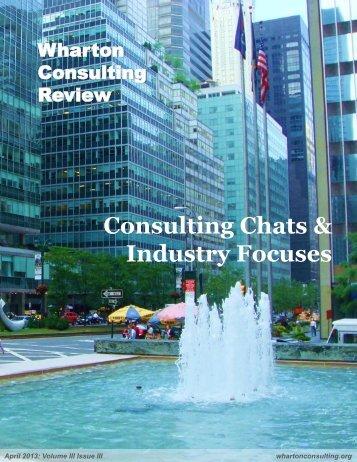 April 2013 - The Wharton Undergraduate Consulting Club.