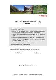 Pilotdossier Bau- und Zonenreglement (BZR) Täsch