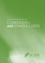Principles for Engagement with Communities and Stakeholders