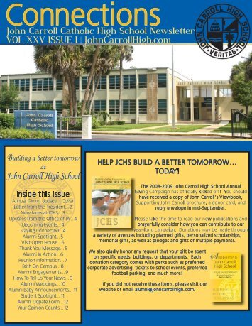 JCHS FALL NEWSLETTER.indd - John Carroll Catholic High School