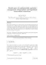 Moduli space of combinatorially equivalent arrangements of ...