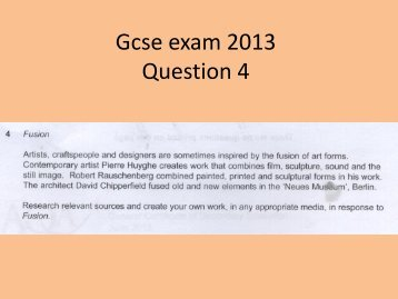 GCSE Exam 2013 Q4 - Kingsdown School
