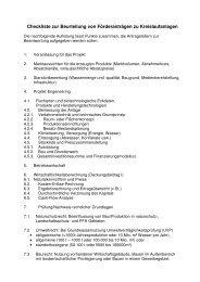 Checkliste zur Beurteilung von Förderanträgen zu Kreislaufanlagen