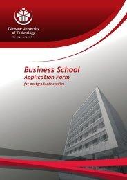 BS Application - Tshwane University of Technology