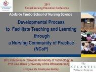 2011 Annual Nursing Education Conference - Tshwane University of ...
