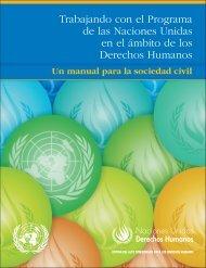 Manual para la sociedad civil