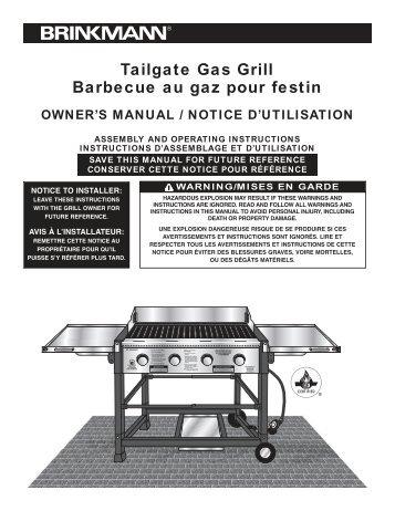 Tailgate Gas Grill Barbecue au gaz pour festin - Brinkmann