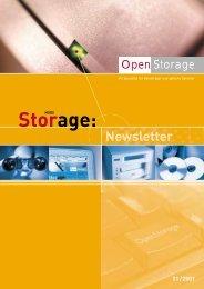 Newsletter 01/2001 Storage - OpenStorage AG