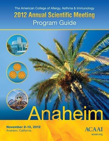 FINAL Program Guide PDF 10-9-12 - American College of Allergy ...
