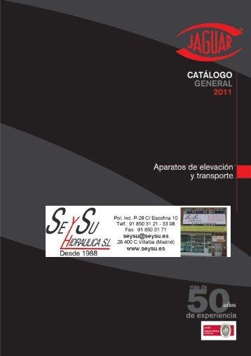 jaguar - catálogo 2011_1 - SEYSU Hidraulica SL
