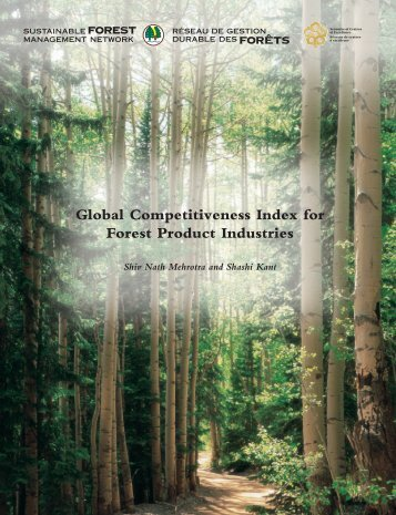 Part I Global Competitiveness Index for Forest Product Industries
