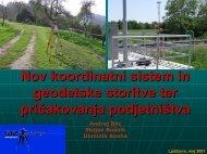 Nov koordinatni sistem in geodetske storitve ter pričakovanja ...