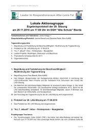29. LAG-Sitzung am 29.11.2010 - bei Leader im Aller-Leine-Tal