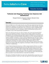 Tailored and Ongoing Training Can Improve Job Satisfaction