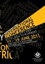 Delegate's information - Tshwane University of Technology