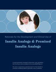 Insulin Analogs & Premixed Insulin Analogs - SchererClin.com