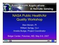 NASA Public Health/Air Quality Workshop - PHAiRS