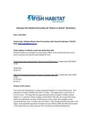 """Waters to Watch"" Update Worksheet - National Fish Habitat ..."