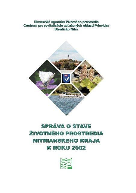 83c8fded1 Správa o stave životného prostredia Nitrianskeho kraja k ... -